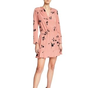 NEW Joie Acey Floral Dress Long Sleeves Pink